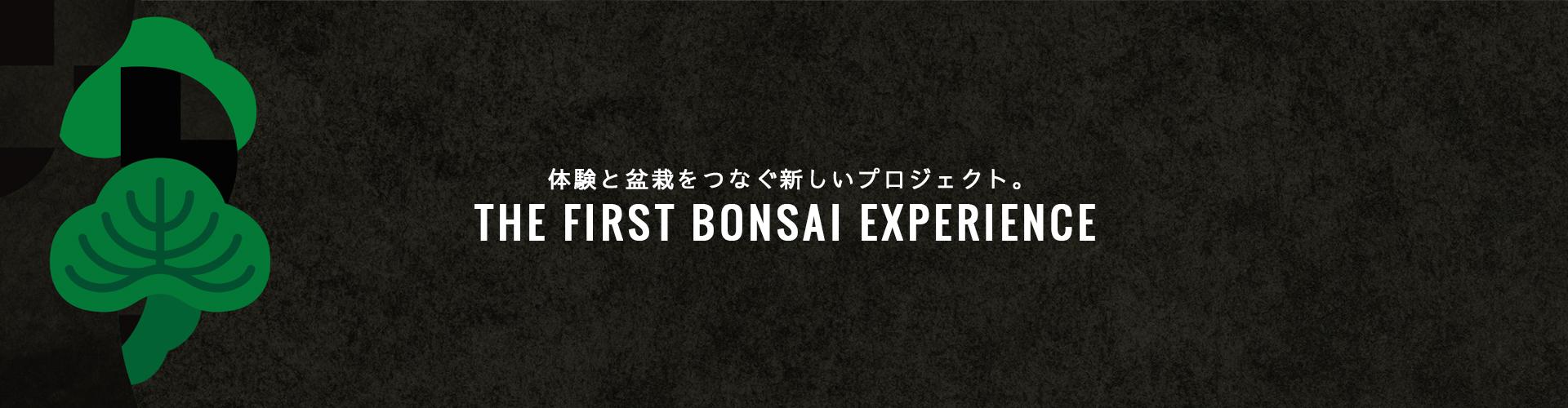 体験と盆栽をつなぐ新しいプロジェクト。THE FIRST BONSAI EXPERIENCE