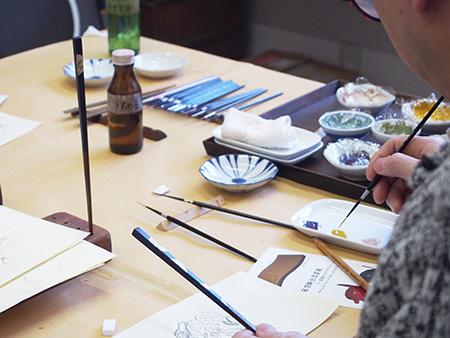 オリジナルの箸や小皿を作ってみませんか