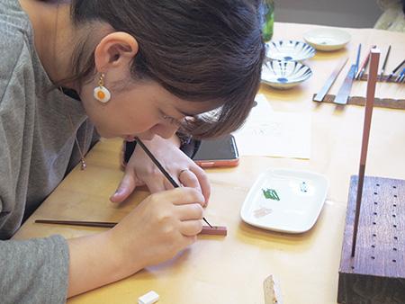 お箸の漆絵付け「漆芸体験」