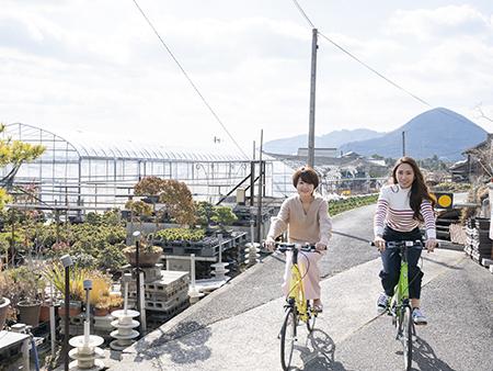 坂が少なく、晴れの日が多い讃岐路はサイクリングにもぴったり。
